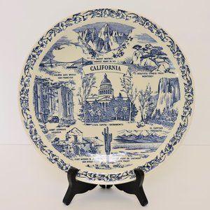 Vintage US State decorative plate California EUC